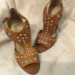 Marc Fisher lite brown studded sandals. Size 8.5